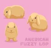 Américain Fuzzy Lop Cartoon Vector Illustration de lapin Images stock