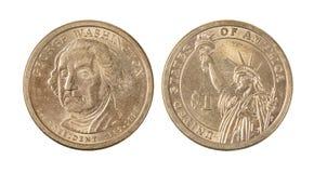 Américain George Washington Dollar Coin image stock