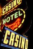 Américain, Nevada, accueil à ne jamais dormir ville Las Vegas Image libre de droits