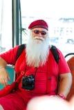 Américain Santa Claus dans le costume rouge d'été Image libre de droits