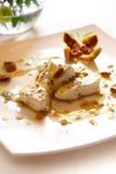 Amêndoa, figos secados e alfazema Imagem de Stock Royalty Free