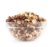 Amêndoa, pistache, amendoim, noz, mistura da avelã Foto de Stock Royalty Free
