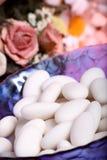 Amêndoas do açúcar branco Fotos de Stock