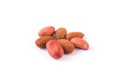Amêndoas e amendoins Fotografia de Stock Royalty Free