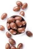 Amêndoas no chocolate Foto de Stock