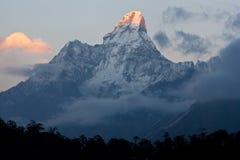 ama dablam喜马拉雅山尼泊尔峰顶 免版税库存照片