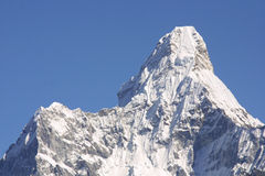 ama dablam喜马拉雅山山顶 库存照片