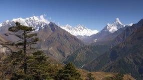 ama dablam珠穆琅玛喜马拉雅山 库存图片