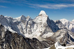 Ama Dablam. View of Ama Dablam from Island Peak Royalty Free Stock Image