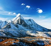 Ama Dablam with beautiful clouds royalty free stock images