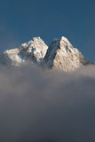 Ama Dablam in the clouds Stock Images