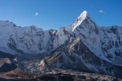 Ama Dablam halny szczyt, ikonowy szczyt Everest region, Himalay Fotografia Royalty Free
