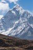 Ama Dablam halny szczyt, ikonowy szczyt Khumbu region, Everest Obrazy Royalty Free