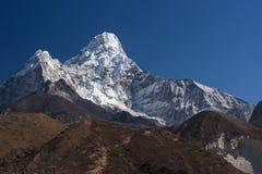 Ama Dablam halny szczyt, ikonowy szczyt w Everest regionie, Nepal Zdjęcie Stock