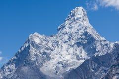 Ama Dablam halny szczyt, sławny szczyt Everest region, Nepal Obraz Stock
