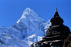 Ama Dablam - Himalaja Lizenzfreie Stockbilder