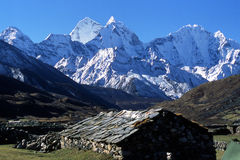 Ama Dablam - Himalayas. Royalty Free Stock Images