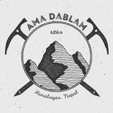 Ama Dablam in Himalayas, Nepal outdoor adventure. Royalty Free Stock Photography