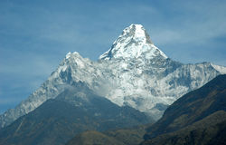Ama Dablam Mount. Mount Ama Dablam in Himalaya. View from Periche village Stock Images