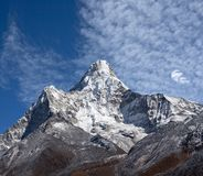 Ama Dablam Mount in Nepal Himalayagebergte stock foto's