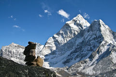 Ama Dablam mountain Stock Photos