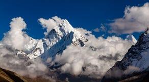 Ama Dablam Mountain in Himalaya Inspirational Landscape, Nepal. Ama Dablam mountain in Sagarmatha National park, Everest region. Himalaya Inspirational Landscape royalty free stock image