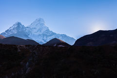 Ama Dablam mountain morning. Stock Photography