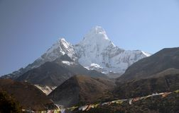 Ama Dablam mountain in Nepal Stock Photos