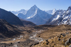 Ama Dablam mountain peak in a morning, Everest region, Nepal Royalty Free Stock Image
