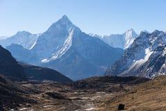 Ama Dablam mountain peak in a morning, Everest region, Nepal Royalty Free Stock Image