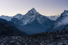 Ama Dablam mountain peak in a morning, Everest region, Nepal Stock Images