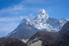 Ama Dablam mountain peak at Pangboche village, Everest region, N. Epal, Asia Stock Image