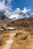 Ama Dablam mountain snow peaks. Stock Image