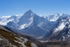 Ama Dablam mountain view from  Chola pass, Everest region, Nepal Stock Photo
