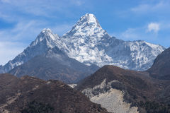 Ama Dablam peak at Pangboche village. Everest region Stock Photos