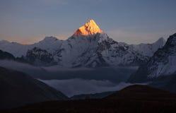 Ama Dablam Peak Sunset Royalty-vrije Stock Foto