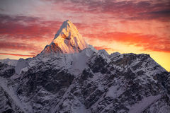 Ama Dablam Peak Sunset Royalty Free Stock Images