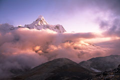 Ama Dablam Peak Sunset Stock Image