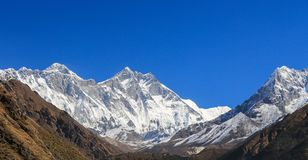 Ama dablam peak in trekway  from nepal in everest  trek Royalty Free Stock Photo