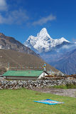 Ama Dablam, seen from Khunde village, Nepal Stock Photo