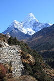 Ama Dablam stupa Royalty Free Stock Photos