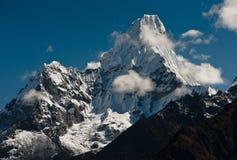 Ama Dablam summit in Himalayas Stock Photography