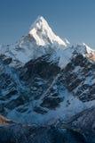 Ama Dablam. Summit of Ama Dablam from route to Kala Patthar, Khumjung, Solu Khumbu, Nepal Royalty Free Stock Photo