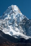 Ama Dablam. Summit of Ama Dablam from trekking route to Everest, Pangboche, Solukhumbu, Nepal Stock Images