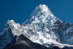 Ama Dablam. Summit of Ama Dablam from trekking route to Everest, Pangboche, Solukhumbu, Nepal Royalty Free Stock Photo