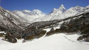 Ama Dablam timelapse, Nepal stock video