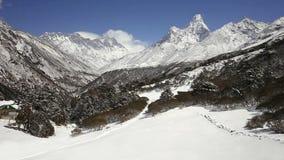 Ama Dablam timelapse, Nepal stock video footage
