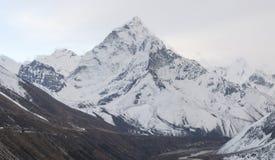 Ama Dablam-top en Pheriche-vallei royalty-vrije stock foto's