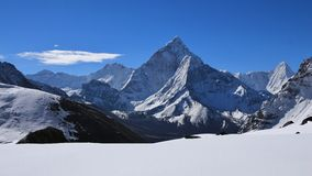 Ama Dablam, view from Dzonghla Stock Images