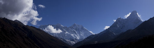 Ama dablam view from tengboche monastery plateau Stock Photo